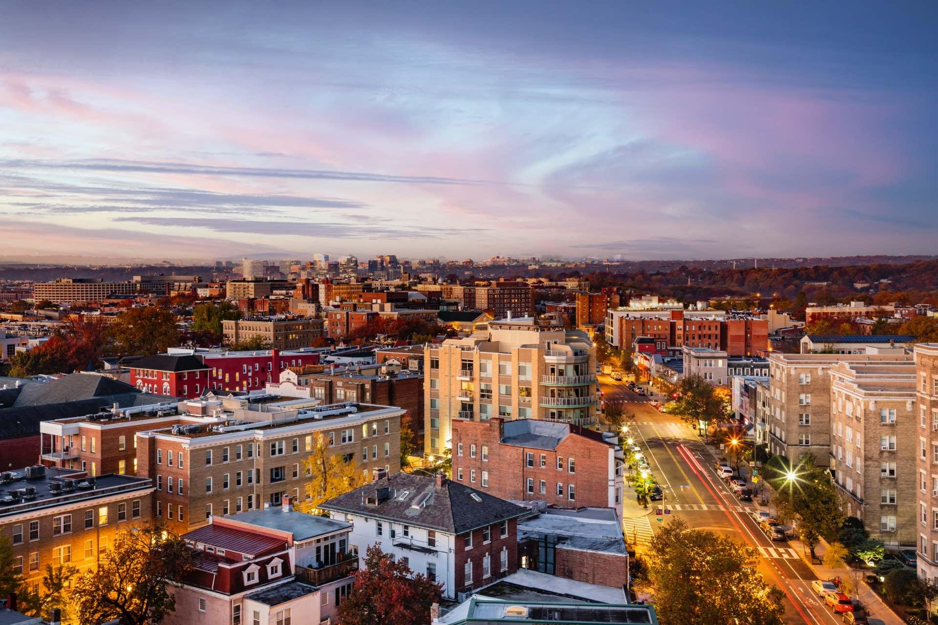 View of Adams Morgan and its urban energy