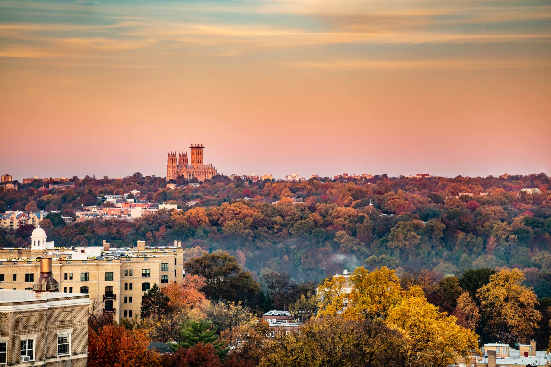 Breathtaking views of the National Cathedral