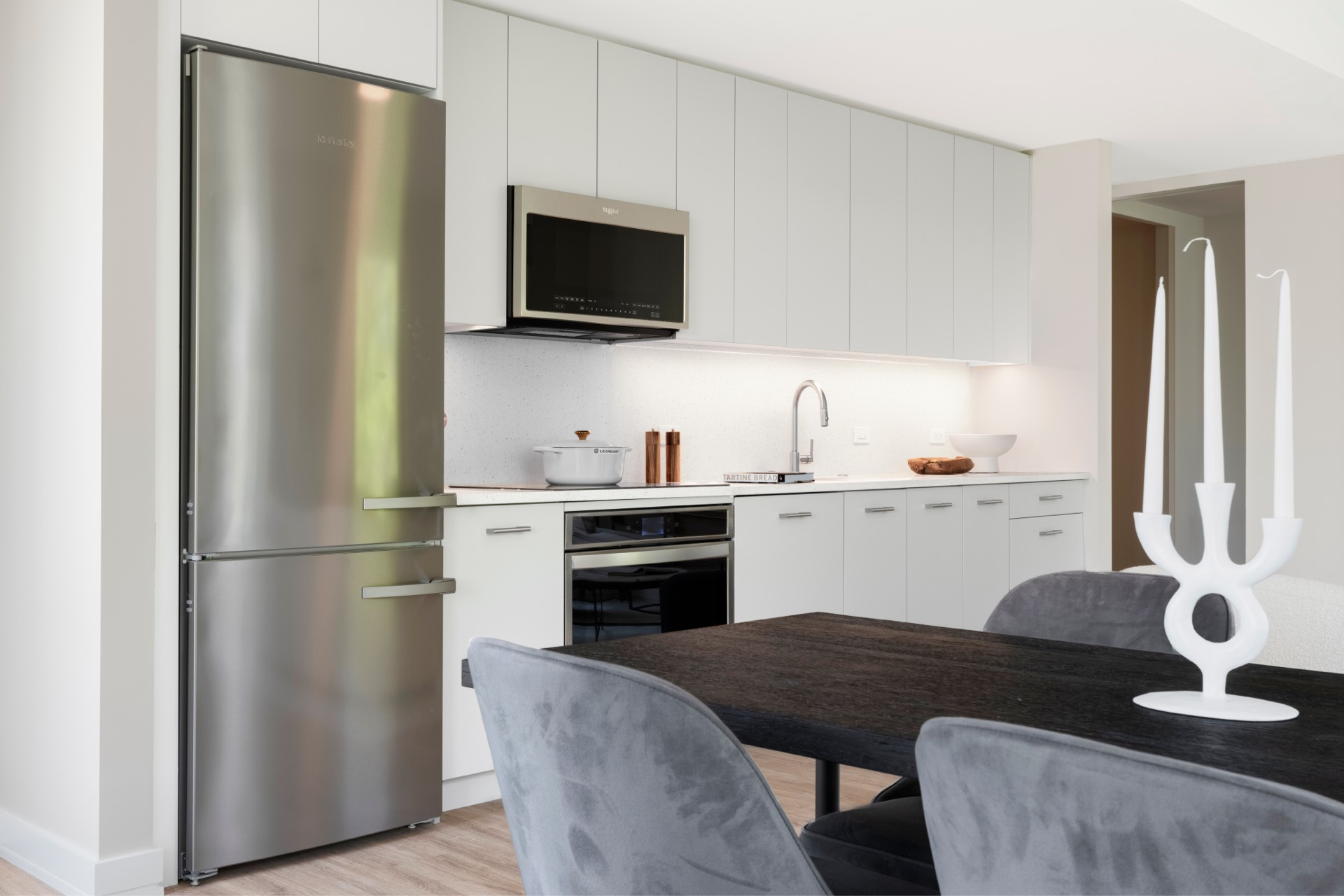 Generously-sized apartments with modern finishes